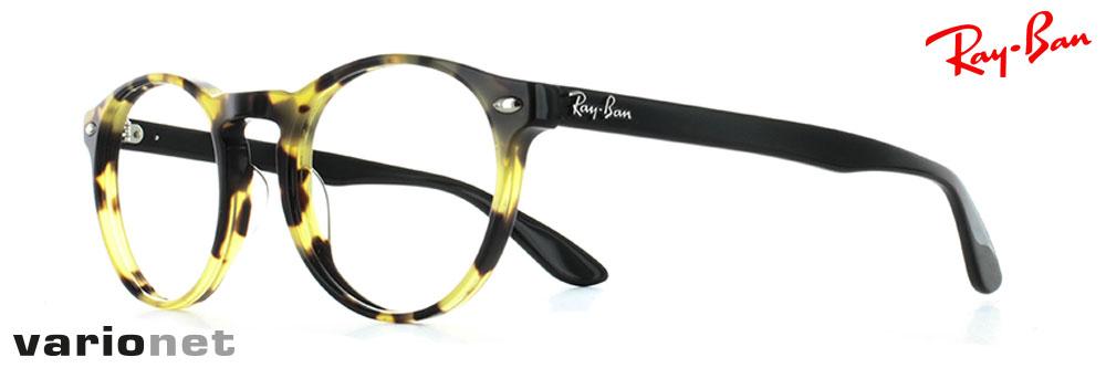 lunettes Ray-Ban rb5283 couleur écaille tortue de profil